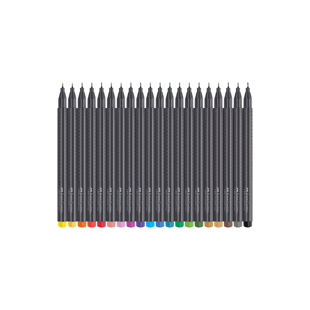 151607 FABER-CASTELL                                                | MICROFIBRA GRIP FINEPEN 0.4MM COLORES VARIOS