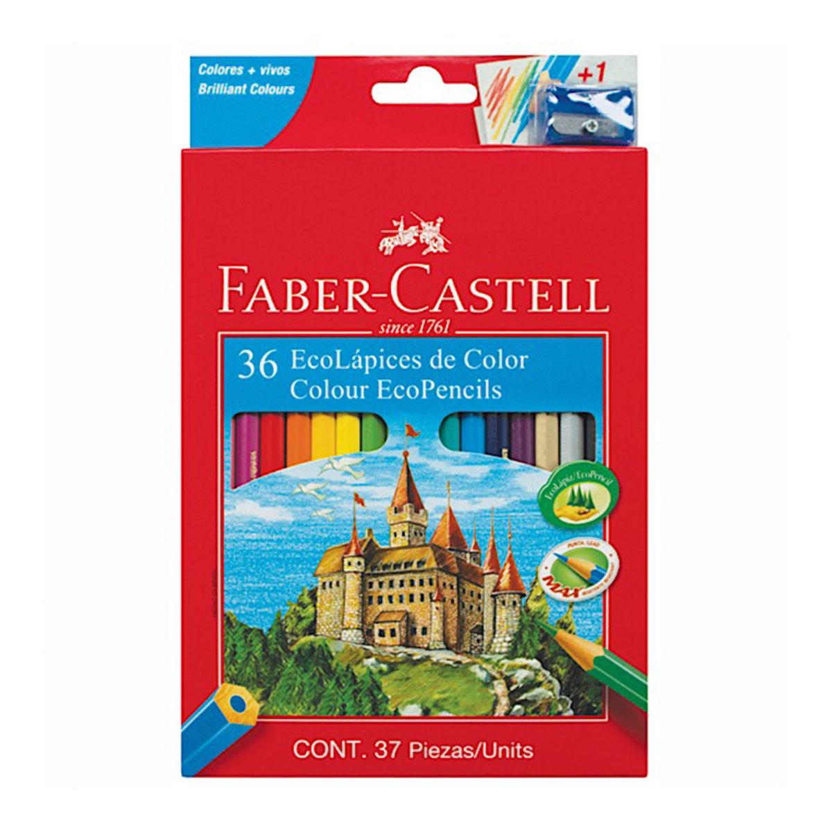 212036 FABER-CASTELL                                                | ECOLAPICES POR 36 LARGOS + SACAPUNTAS