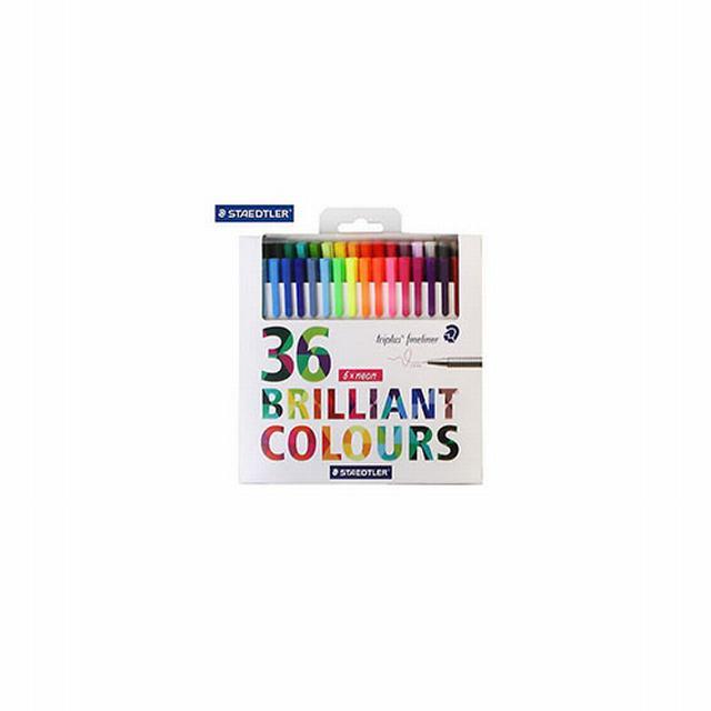 334C36 STAEDTLER                                                    | MICROFIBRA 334 POR 36 COLORES BRILLANTES Y 6 FLUO