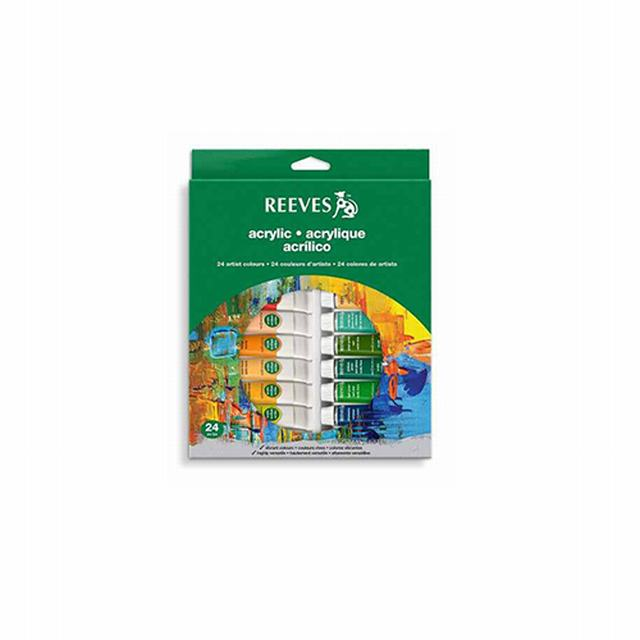 493200 REEVES                                                       | SET ACRILICOS X 24 COLORES POMO X 10 ML