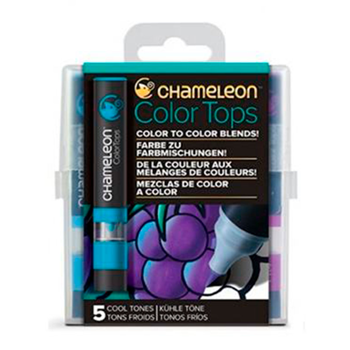 CT45-04 CHAMELEON                                                    | MARCADORES COLOR TOPS SET POR 5 COLORES TONOS FRIOS