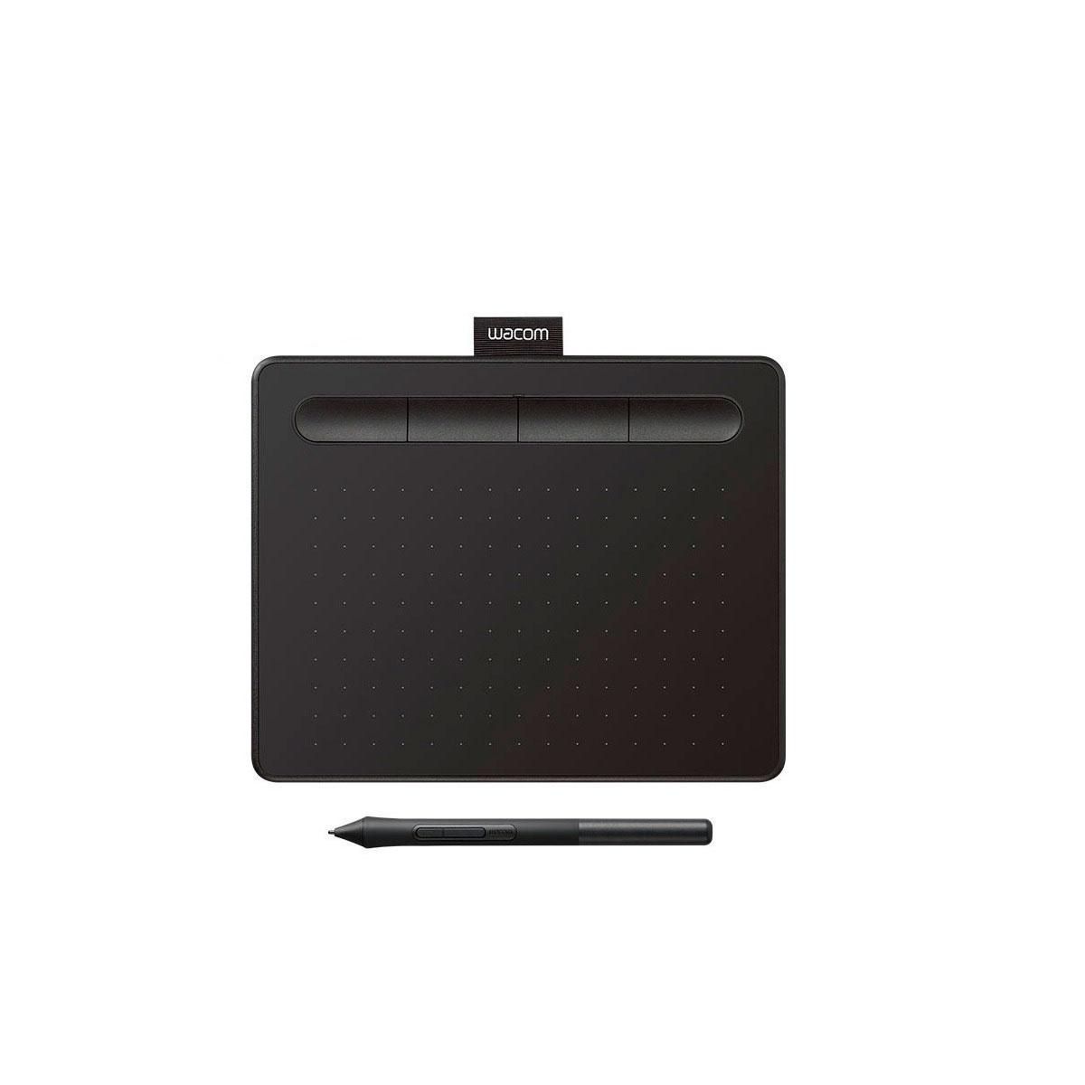 CTL4100 WACOM                                                        | TABLETA INTUOS BASIC PEN SMALL BLACK, 200 X 160 X 8.8 MM, 4096 NIVELES DE PRESIÓN - 2540 LPI