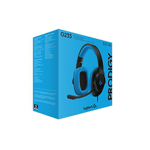 LOG-981-000702 LOGITECH                                                     | AURICULAR GAMING G233 PRODIGY 3.5MM (PC -XBOX ONE - PS4) NEGRO-AZUL