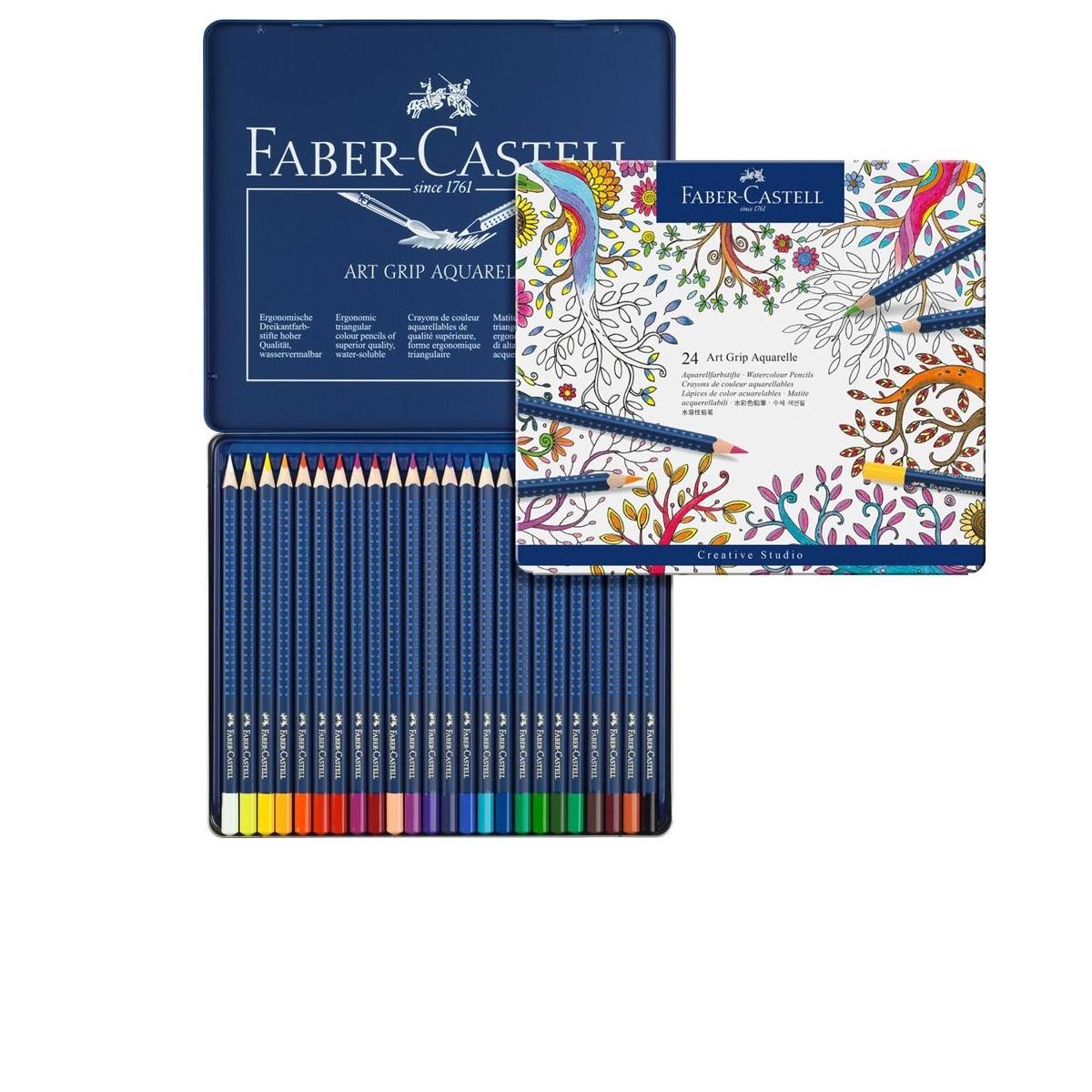 114224 FABER-CASTELL                                                | LAPICES ART GRIP ACUARELABLES POR 24 COLORES