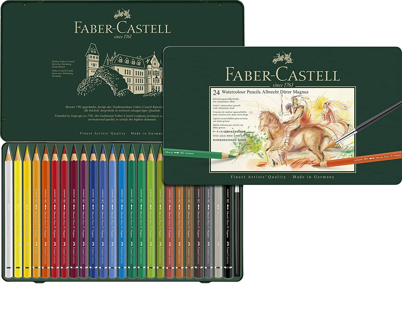 116924 FABER-CASTELL                                                | LAPICES ACUARELABLES ALBRECHT DURER MAGNUS LATA X 24 COLORES