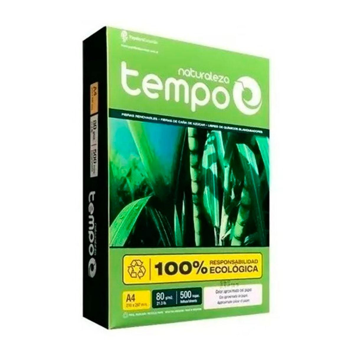29710075 TEMPO                                                        | RESMA A4 75 GRAMOS X 500 HOJAS NATURALEZA