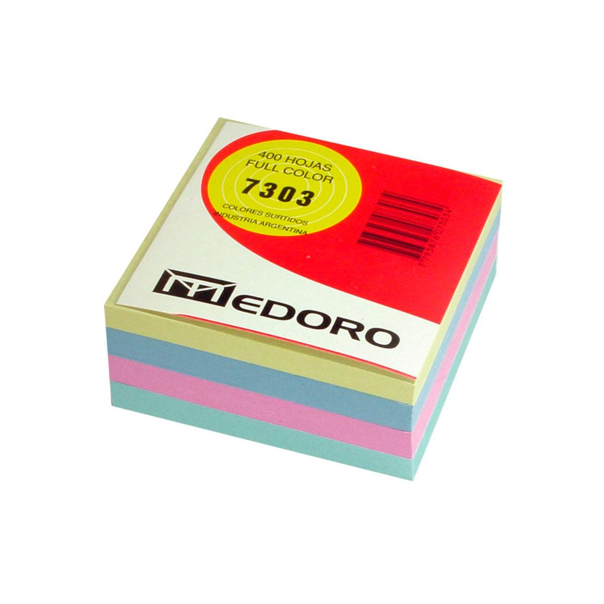 7303 MEDORO                                                       | TACO MULTICOLOR 7303 9 X 9 POR 400 HOJAS VARIOS COLORES
