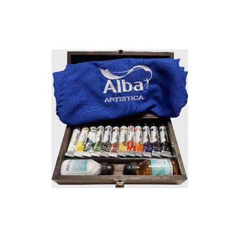 8800996001 ALBA                                                         | CAJA DE MADERA GRANDE 24 OLEOS EXTRAFINO SETS Y COMBOS