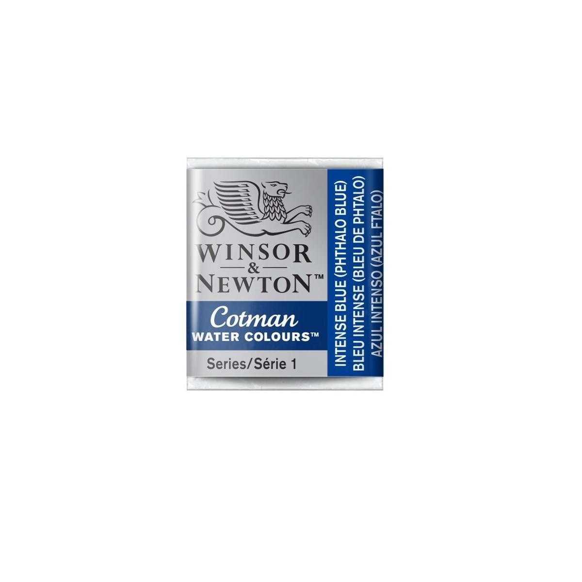 CWC-327 WINSOR & NEWTON                                              | ACUARELA COTMAN EN PASTILLA 1/2 PAN AZUL INTENSO